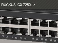 Gamme de switch ICX 7250 du distributeur de réseaux Wi-Fi Ruckus.