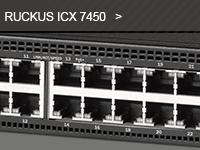 Gamme de switch ICX 7450 du distributeur de réseaux Wi-Fi Ruckus.