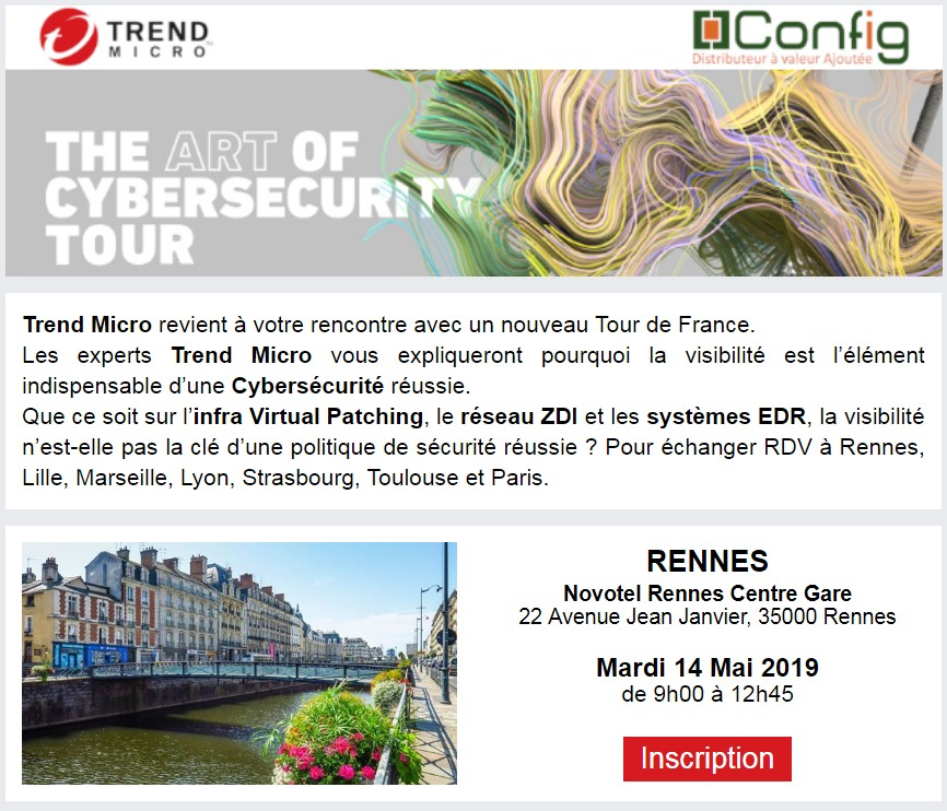 Bannière site Rennes Trend Micro Ar Of Cybersecurity Tour 2019